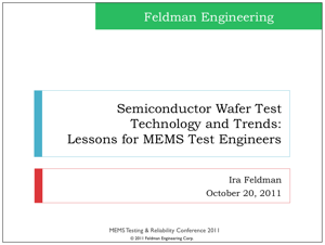 Lessons for MEMS Test Engineers