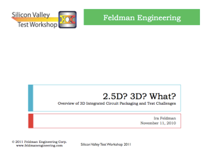 2 5D? 3D? What? 3D IC Packaging - Ira Feldman