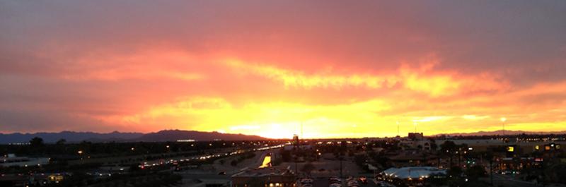 Sunset over Phoenix, Arizona during BiTS Workshop