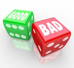 good bad dice canstockphoto9654181 250x320
